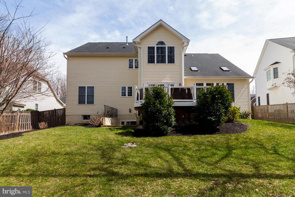 Exterior (Rear) of home with three level extension - 5386 ABERNATHY CT, FAIRFAX