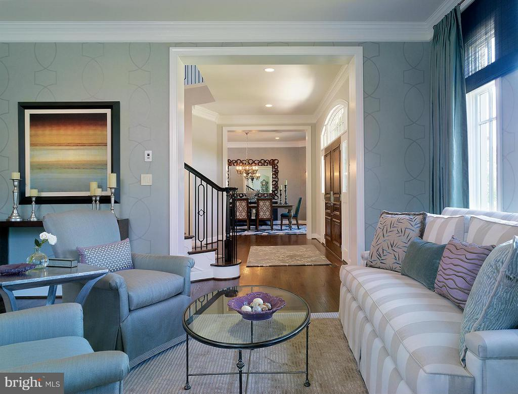 A Model Home Living Room Pictured - HARLEY ROAD HOME SITE 5, LORTON