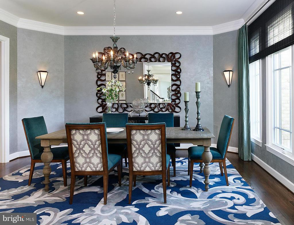 A Model Home Dining Room Pictured - HARLEY ROAD HOME SITE 5, LORTON