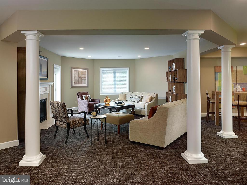A Model Home Recreation Room  Pictured - HARLEY ROAD HOME SITE 5, LORTON
