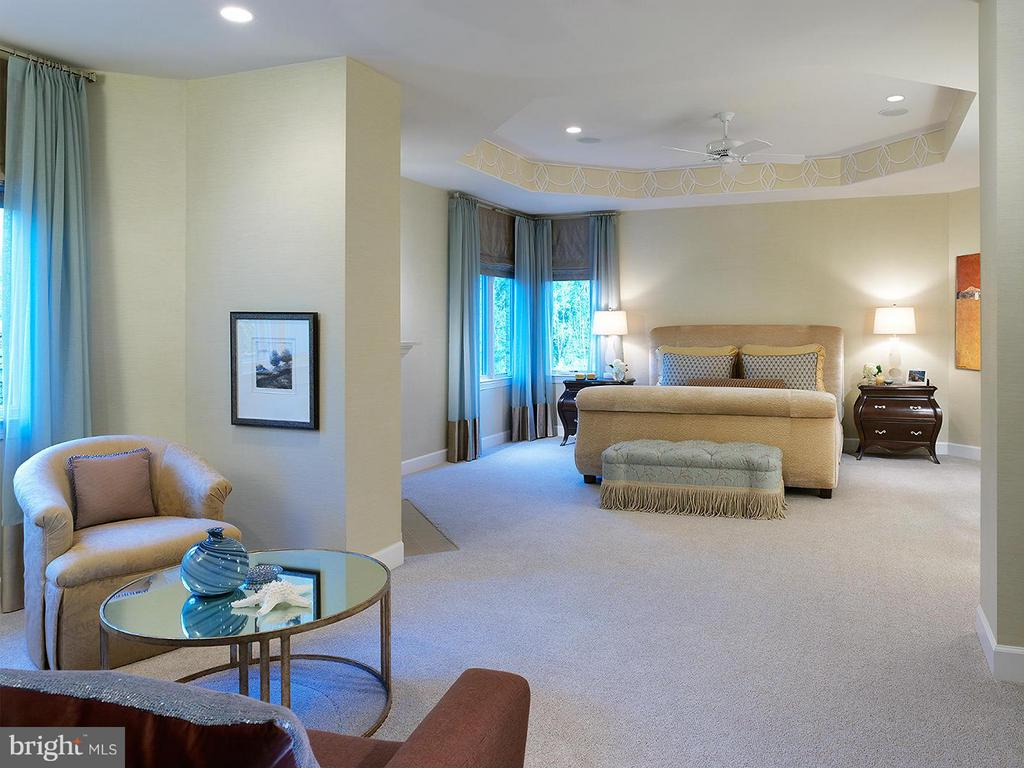 A Model Home Master Suite Pictured - HARLEY ROAD HOME SITE 5, LORTON