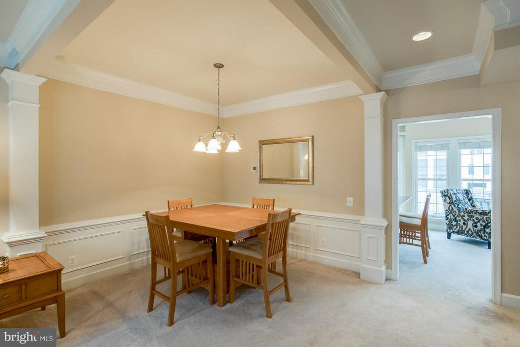 Dining Room with tray ceiling and crown molding - 2170 OBERLIN DR, WOODBRIDGE