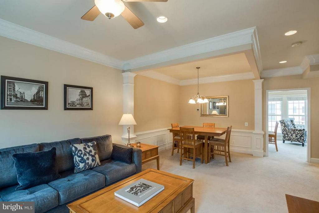 View of Family Room into Dining Room and Kitchen - 2170 OBERLIN DR, WOODBRIDGE