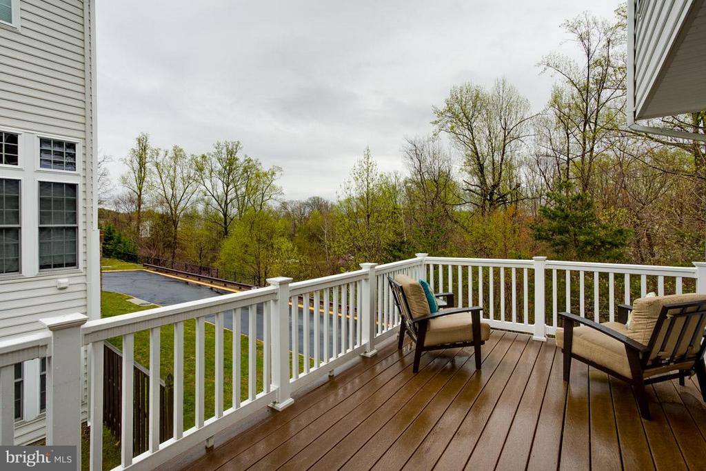 View of Composite Deck and Trees - 2170 OBERLIN DR, WOODBRIDGE
