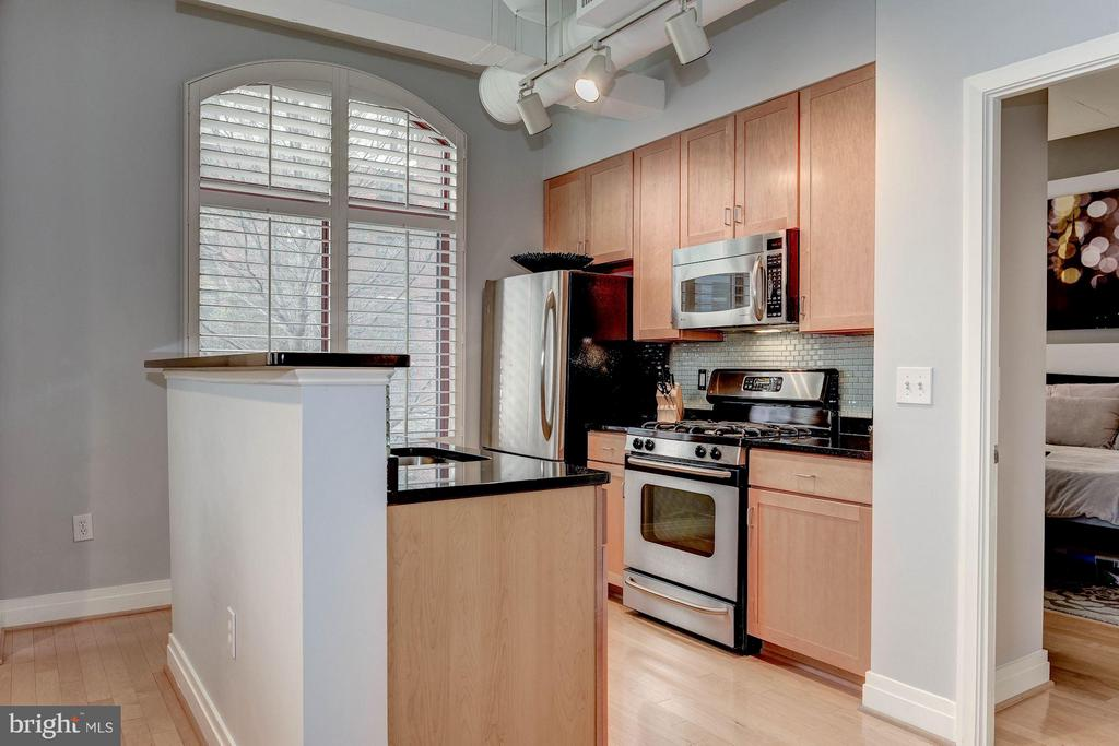 KITCHEN - BRAND NEW HARDWOOD FLOORS! - 1201 GARFIELD ST N #216, ARLINGTON