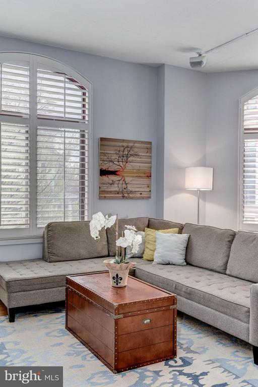 LIVING ROOM - CUSTOM PAINT and PLANTATION SHUTTERS - 1201 GARFIELD ST N #216, ARLINGTON