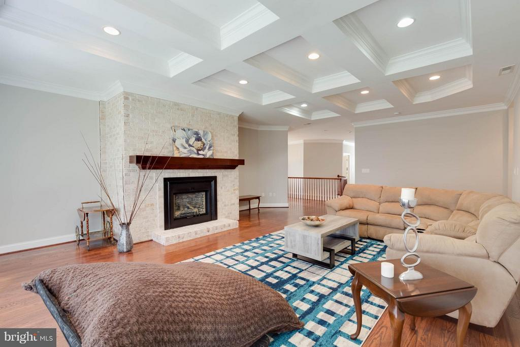 2nd Family Room with Coffered Ceilings and Gas FP - 5521 CLIFTON RD, CLIFTON