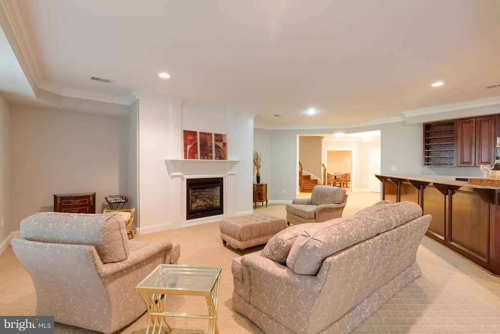 Basement with Gas Fireplace - 5521 CLIFTON RD, CLIFTON