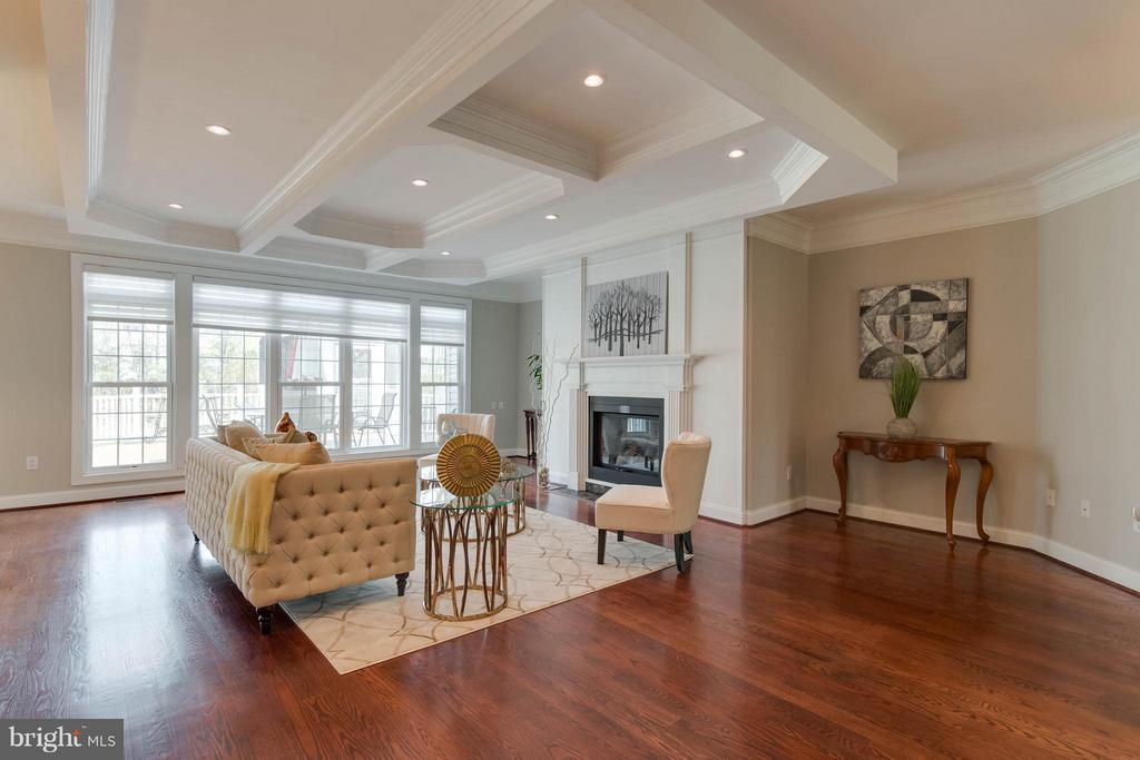 Spacious Family Room with Coffered Ceilings - 5521 CLIFTON RD, CLIFTON