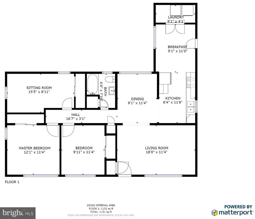 Floor Plan - 6 WESTWOOD DR, FREDERICKSBURG