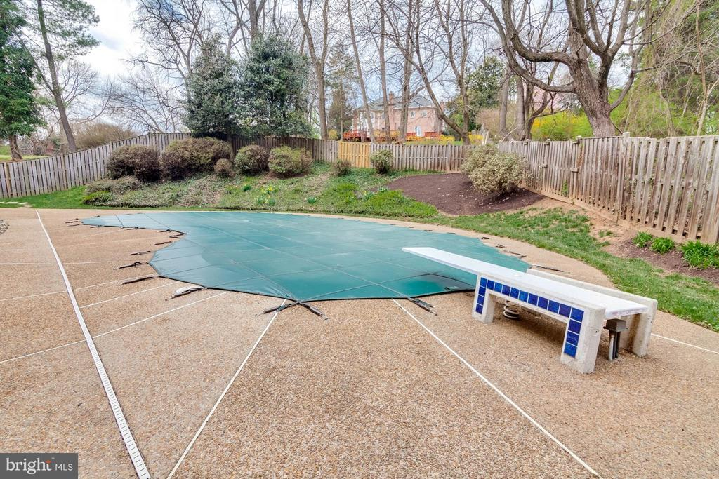 Fenced Back Yard w/ Heated Inground Pool - 8029 OLD DOMINION DR, MCLEAN