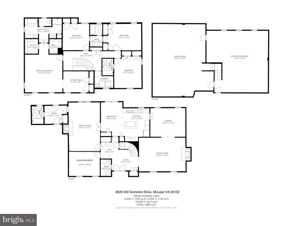 Floor Plan Schematics - 8029 OLD DOMINION DR, MCLEAN