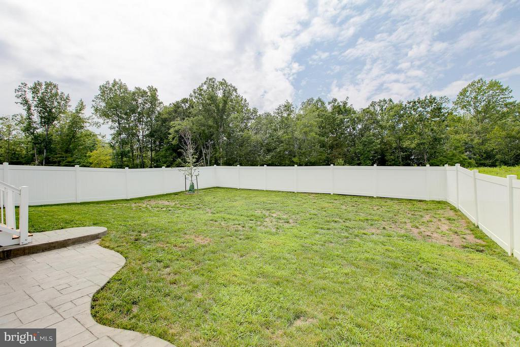 Flat back yard!! - 397 PEAR BLOSSOM RD, STAFFORD