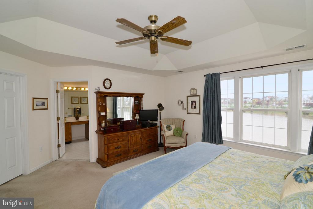 Large master suite with tray ceiling detail.. - 44019 LORDS VALLEY TER, ASHBURN