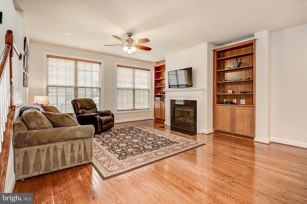 Grand living room w/ gas fireplace & built-ins - 42709 ASHBURN TILLETT DR, BROADLANDS