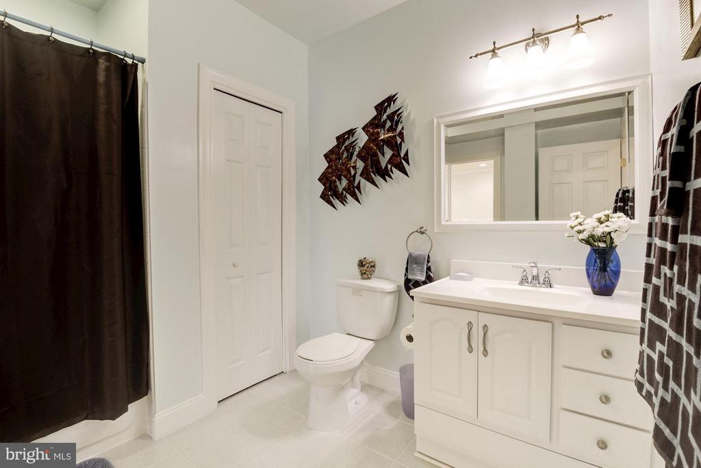 Full Bath in Basement - 8136 BLUEBONNET DR, LORTON