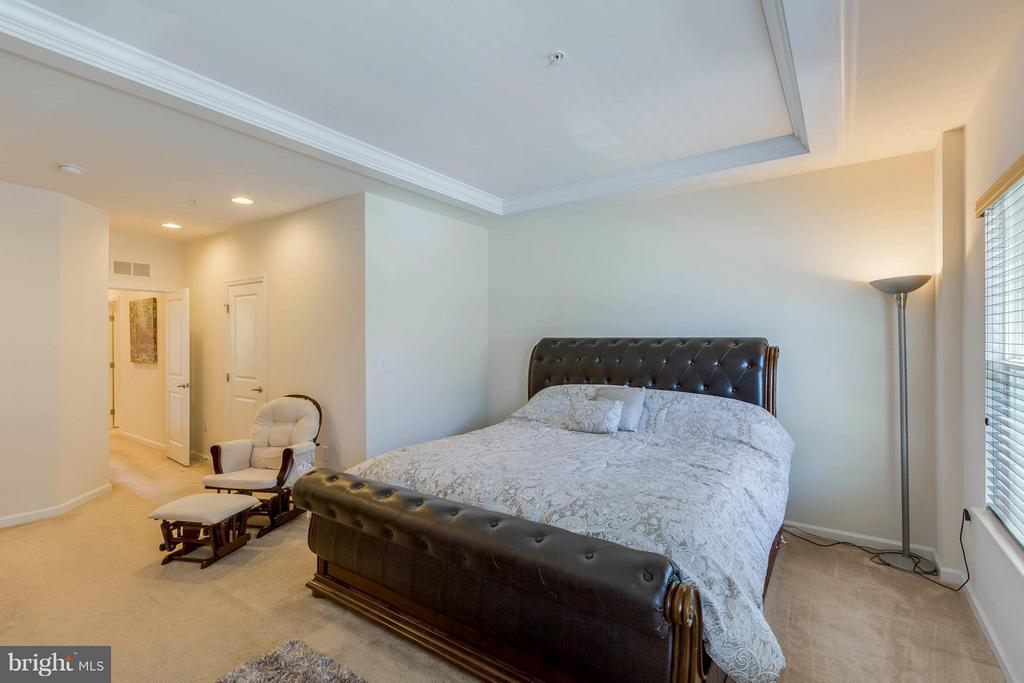 Master bedroom with Tray ceiling - 5210 STREAM BANK LN #301G, GREENBELT