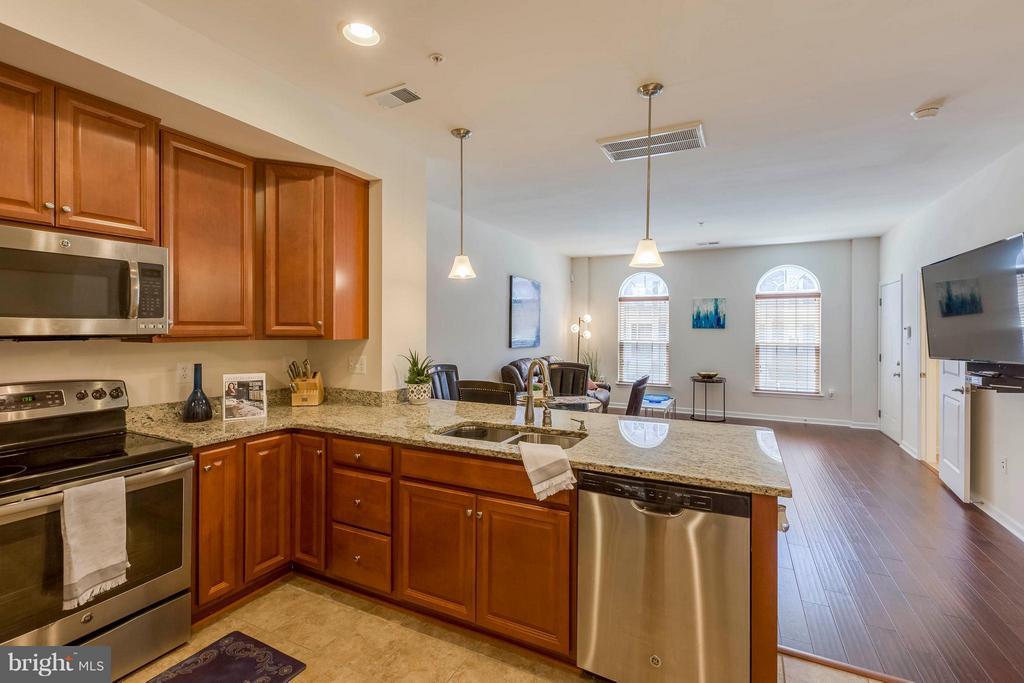 Large ceramic tiled floors,stainless,granite - 5210 STREAM BANK LN #301G, GREENBELT