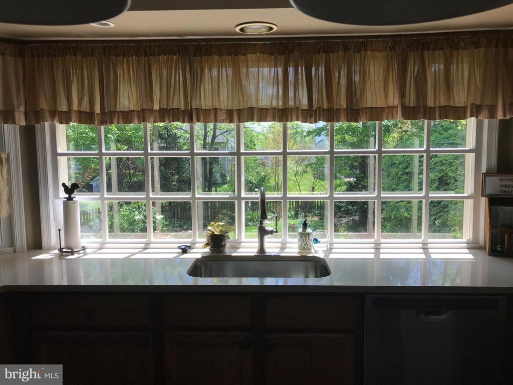 Extra large picture window overlooking backyard - 27 LARKWOOD CT, STAFFORD