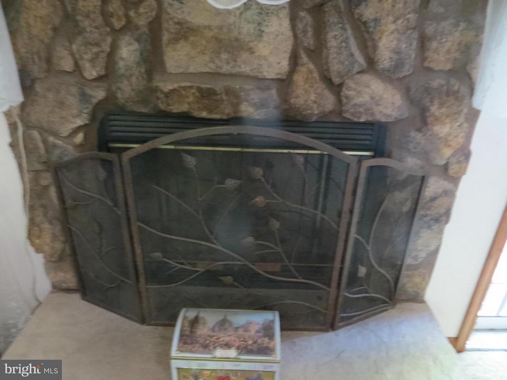 Wood burning fireplace - 209 CREEKSIDE DR, LOCUST GROVE