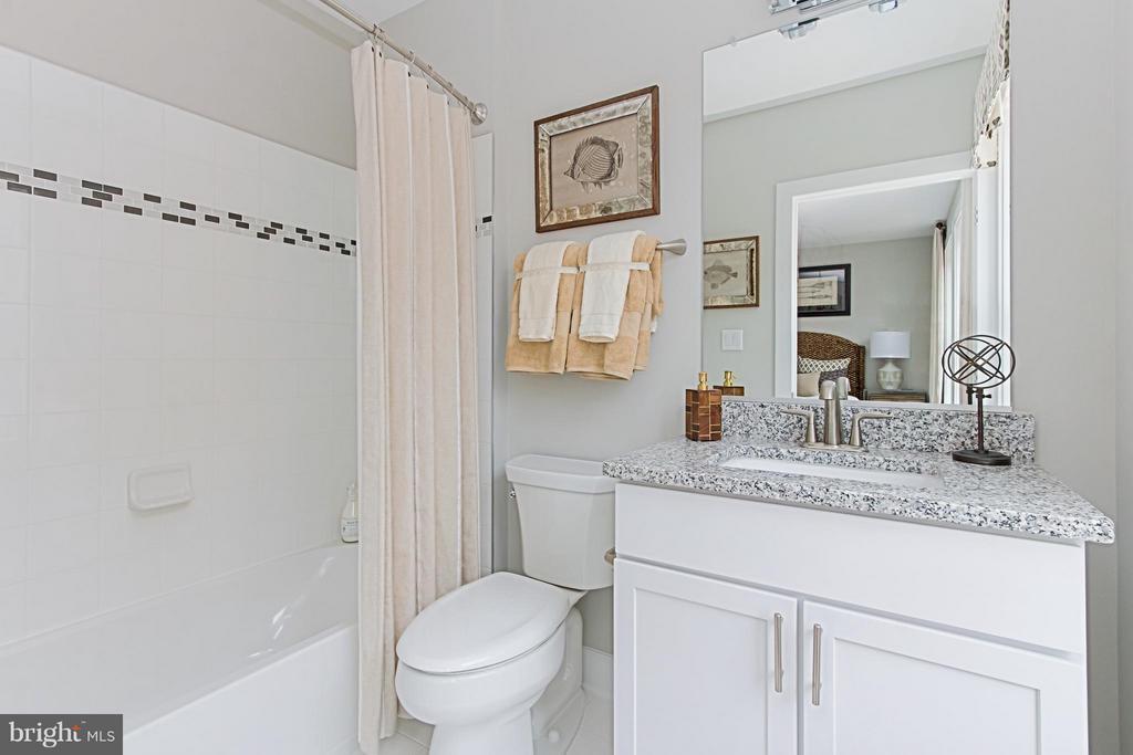 En-Suite Bath with Granite Vanity - 4029 EAST ST, FAIRFAX