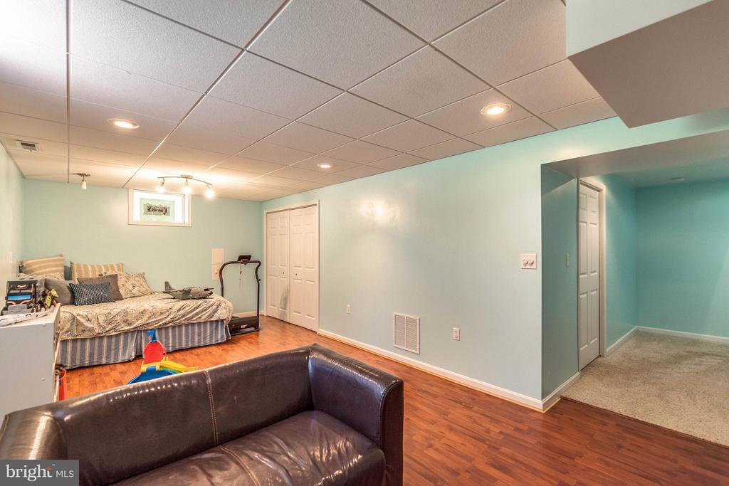 Basement with playroom and lots of storage space. - 10257 MEADOW FENCE CT, MYERSVILLE