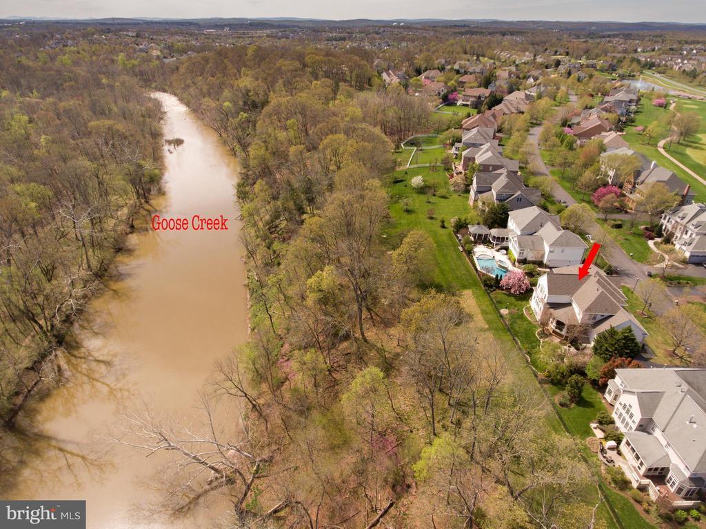 View of Goose Creek - 43531 FIRESTONE PL, LEESBURG