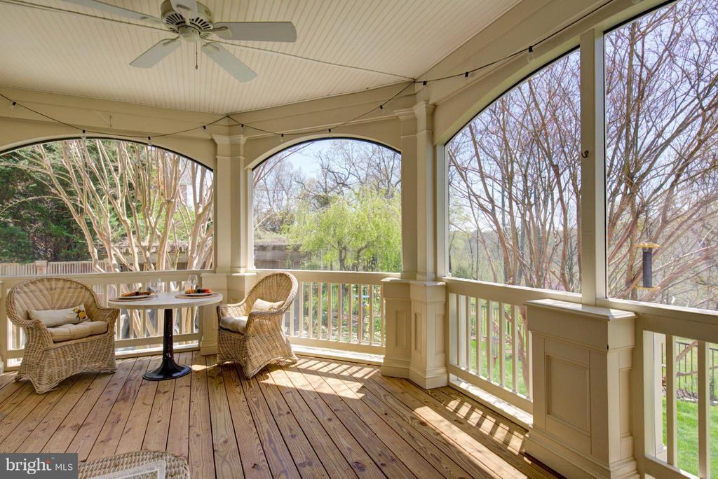 Screened Porch overlooking wildlife habitat - 43531 FIRESTONE PL, LEESBURG