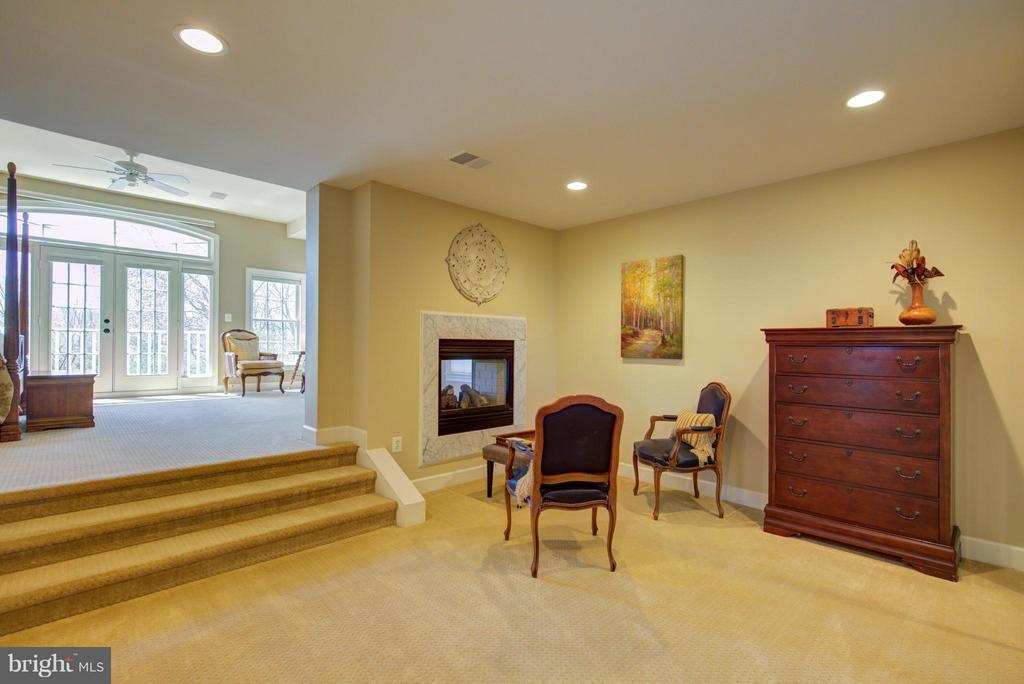 Master Bedroom with two-sided fireplace - 43531 FIRESTONE PL, LEESBURG