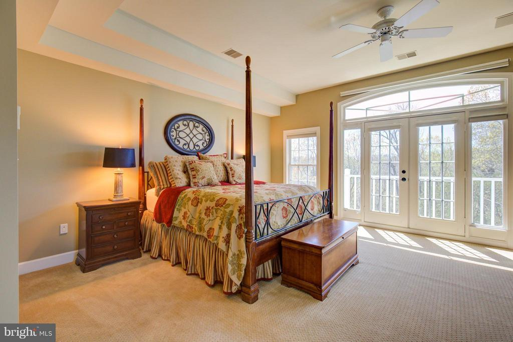 Master Bedroom with room darkening remote shades - 43531 FIRESTONE PL, LEESBURG