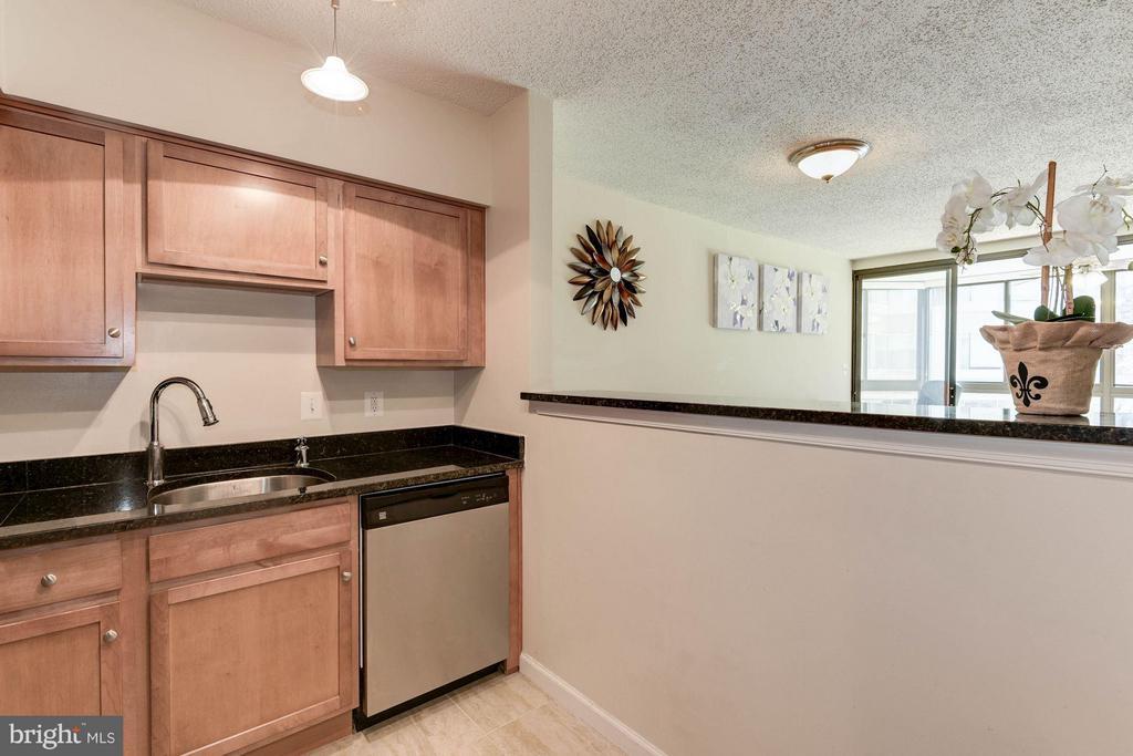 KITCHEN - OPENS BEAUTIFULLY TO LIVING ROOM! - 1001 RANDOLPH ST N #320, ARLINGTON