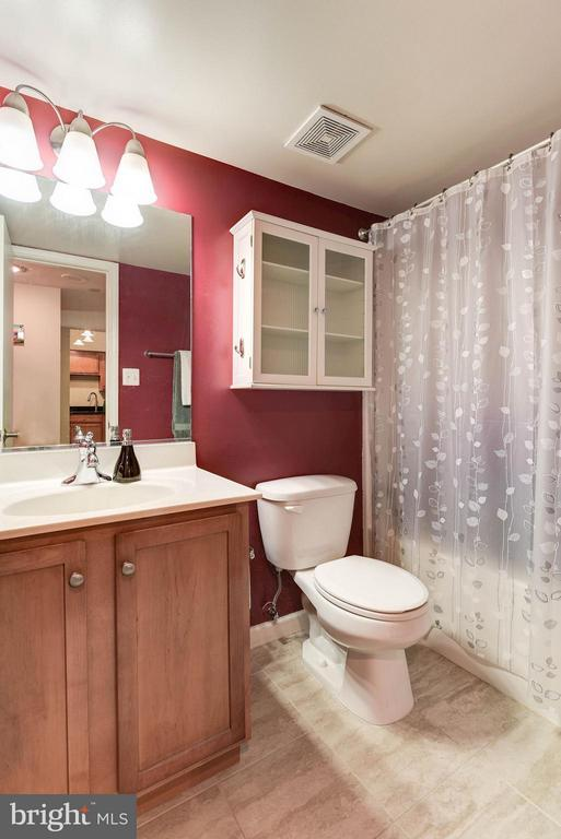 BATHROOM - MAPLE CABINETRY, CERAMIC TILE FLOORS! - 1001 RANDOLPH ST N #320, ARLINGTON