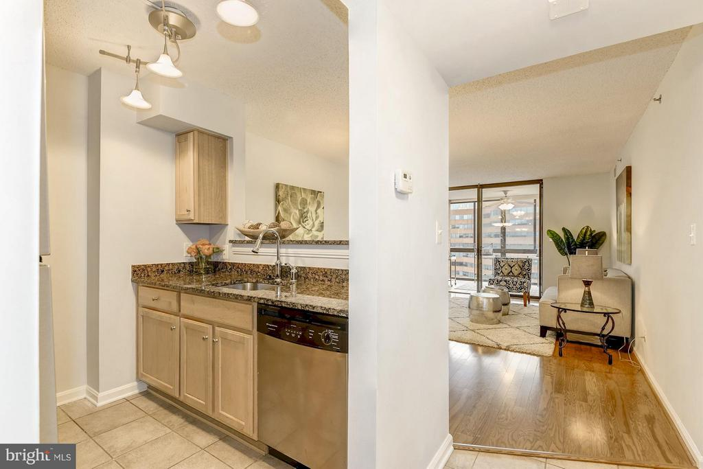 Open kitchen flows into the dining and living room - 1024 UTAH ST #721, ARLINGTON