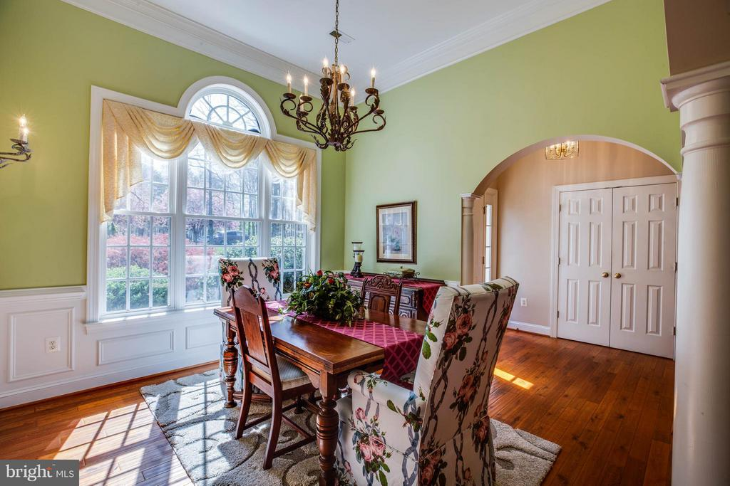 Separate dining room with hardwood flooring - 11306 FIELD CIR, SPOTSYLVANIA
