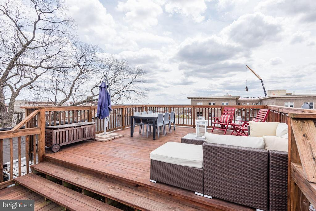 400sqft Private Roof Deck - 1303 CLIFTON ST NW #4, WASHINGTON