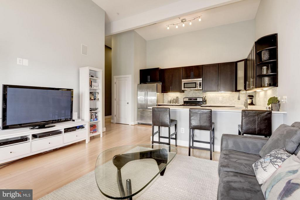 Bamboo floors and 13.5ft ceilings - 1303 CLIFTON ST NW #4, WASHINGTON