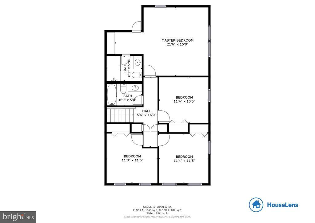 Floor Plan Upstairs - 6613 SADDLEHORN CT, BURKE