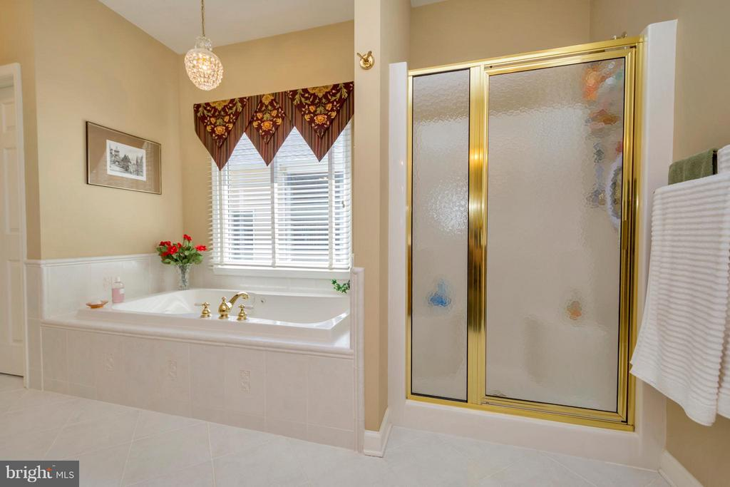 luxury master bath with separate tub and shower - 1101 EASTOVER PKWY, LOCUST GROVE
