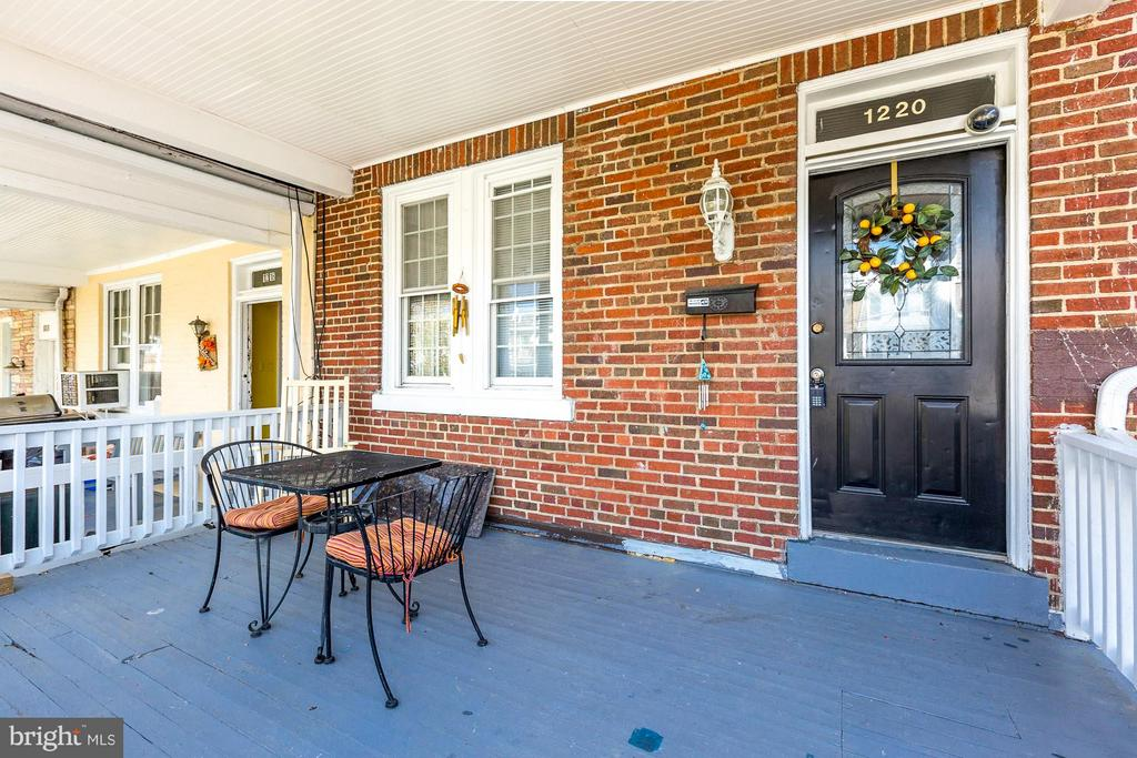 Charming front porch! - 1220 INGRAHAM ST NW, WASHINGTON