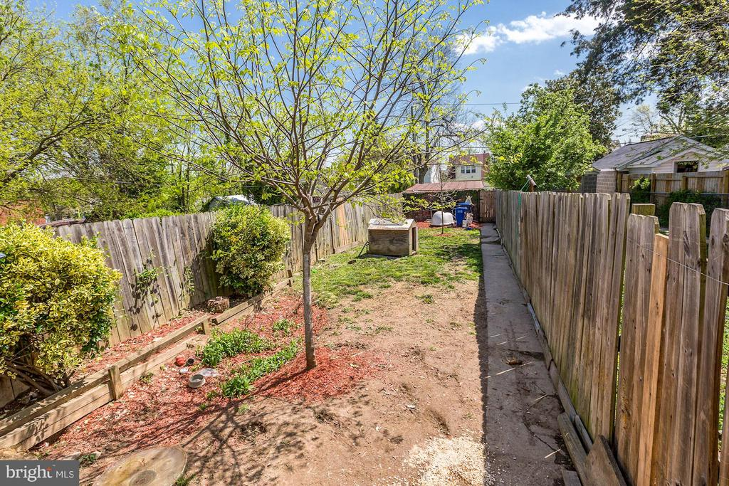 Private backyard! - 1220 INGRAHAM ST NW, WASHINGTON