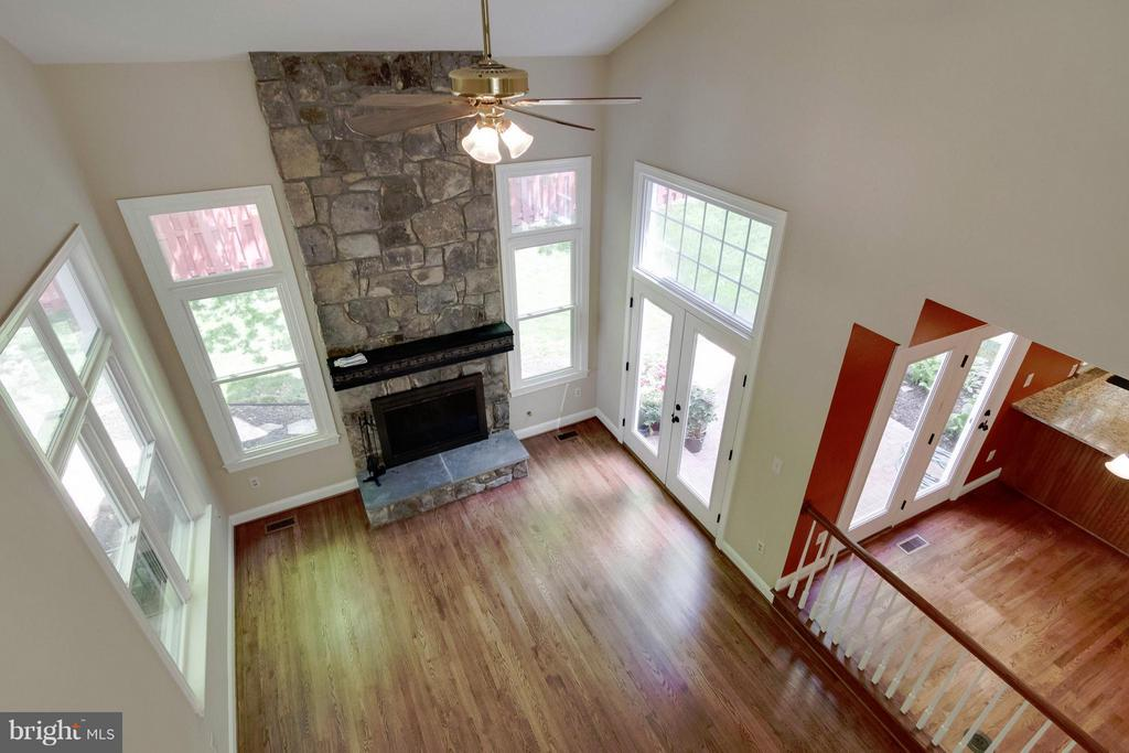 Family Room from Upper Level Balcony - 4220 KERSEY CIR, DUMFRIES