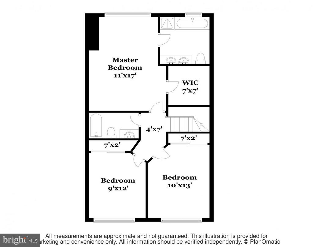 Upper Level Floor Plan - 11438 ABNER AVE, FAIRFAX