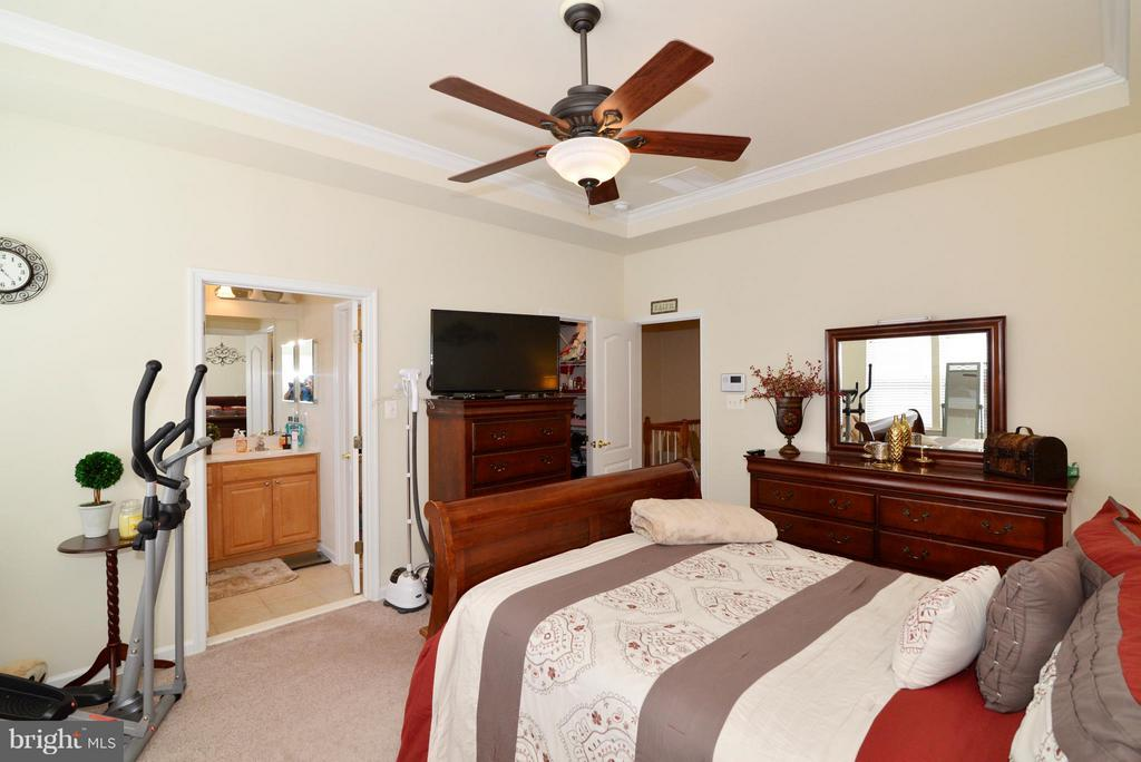 Master Bedroom with walk-in closet - 4661 CARISBROOKE LN, FAIRFAX