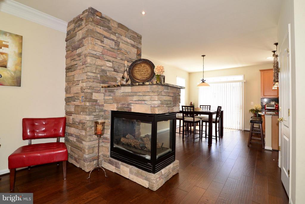 3-sided gas fireplace - 4661 CARISBROOKE LN, FAIRFAX