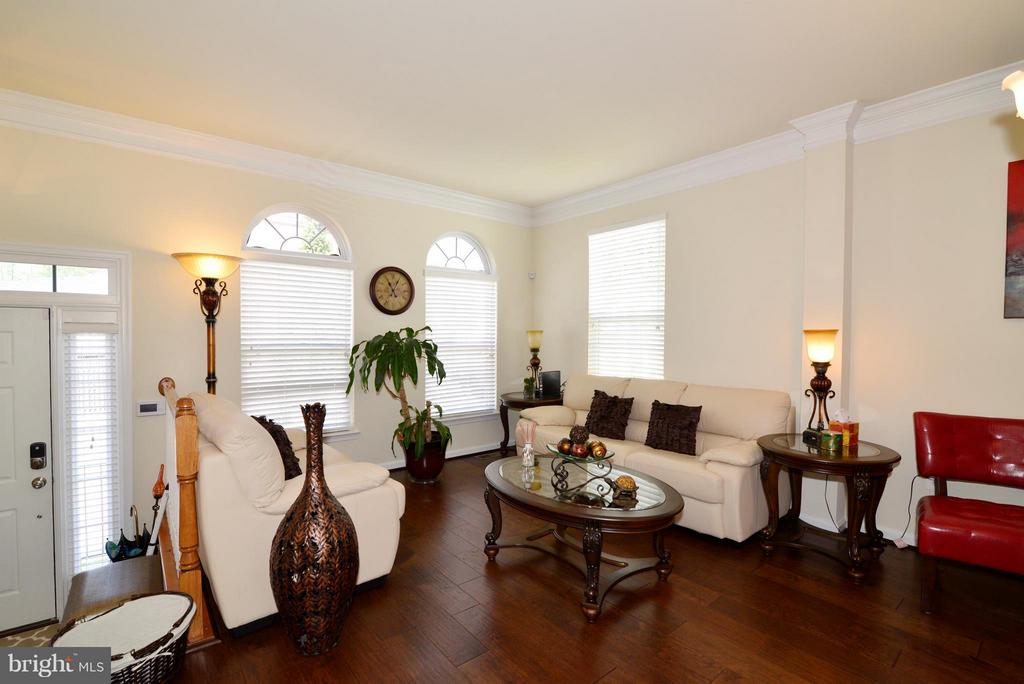 Living Room with Palladium windows - 4661 CARISBROOKE LN, FAIRFAX