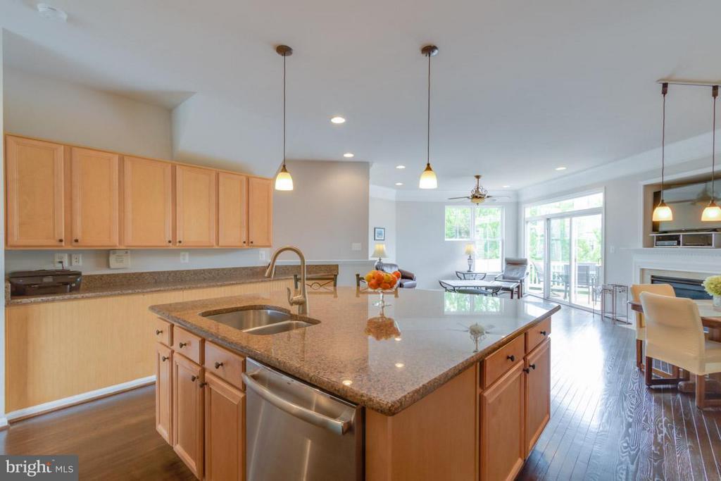 Kitchen with Large Island - 22862 LIVINGSTON TER, ASHBURN