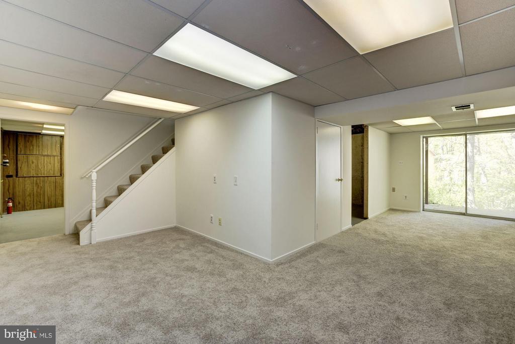 Rec room, new carpet. Basement painted too. - 6247 GARRETSON ST, BURKE