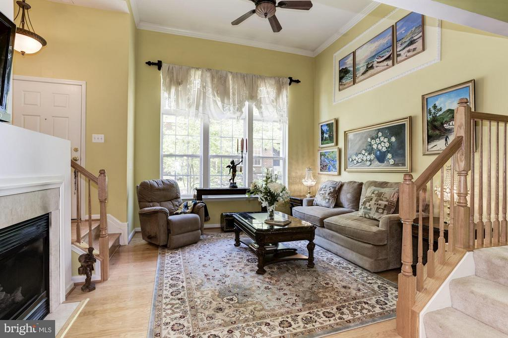 Living Room with  high Ceilings - 15246 ROSEMONT MANOR DR, HAYMARKET