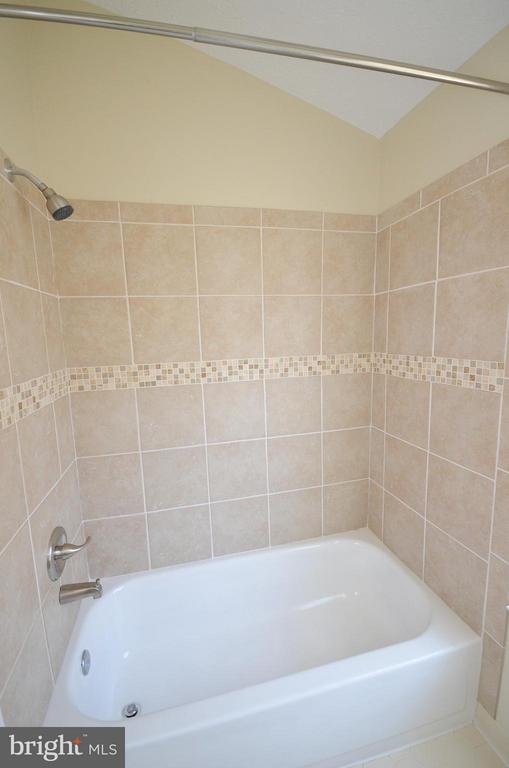 Master Bathroom with New Ceramic Tile Shower - 14091 WINDING RIDGE LN, CENTREVILLE