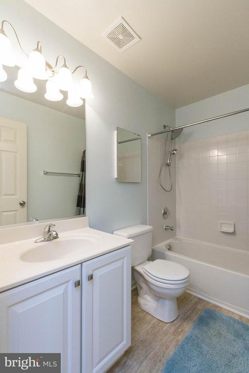 Hall Bath with Updated Lighting and Floors - 13131 COPPER BROOK WAY, HERNDON
